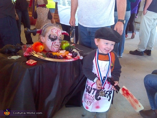 Butcher & Head on Platter Costume