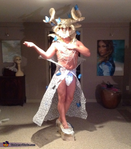 Pre finished, I wanted to make sure it wasn't too tall, I was 7 feet 11 in tall, Butterfly Dream Costume