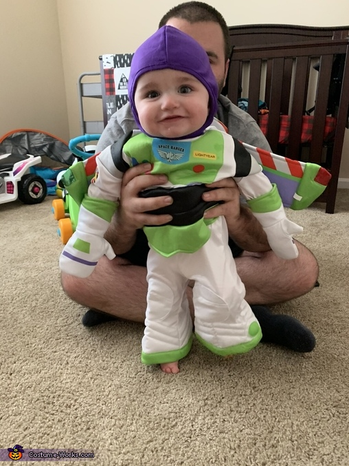 He loves it!, Buzz Lightyear Costume