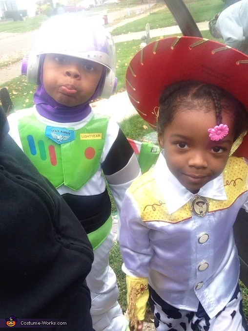 Silly Kids!!!!, Toy Story Buzz Lightyear and Jessie the Cowgirl Costume
