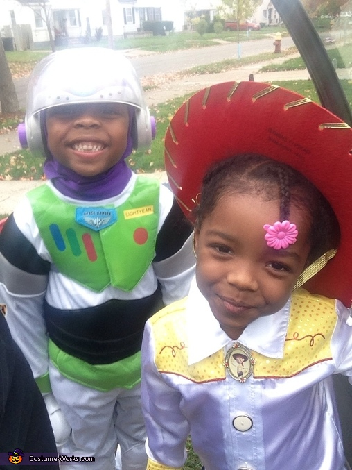 Yeeee Haaaa cow girl!!!, Toy Story Buzz Lightyear and Jessie the Cowgirl Costume