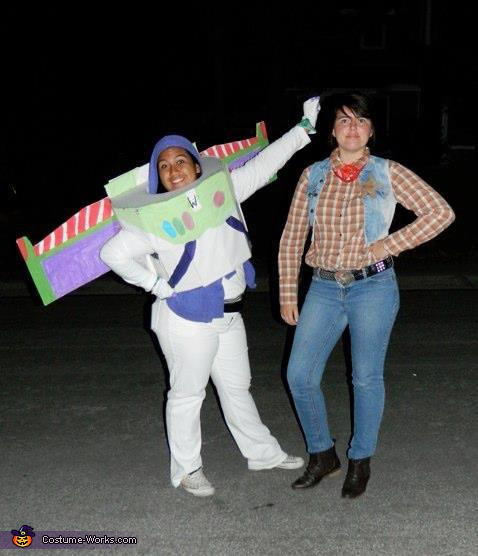 Buzz Lightyear and Woody Toy Story CostumeWoody And Buzz Couple Costumes