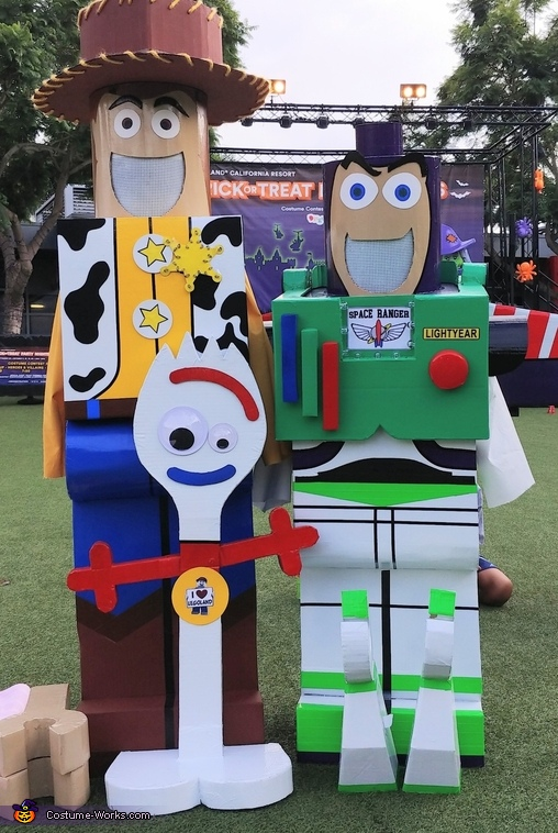 Buzz & Woody help Forky Costume