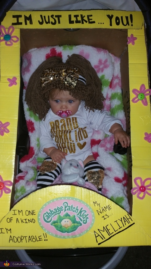 Cabbage Patch Baby Homemade Costume