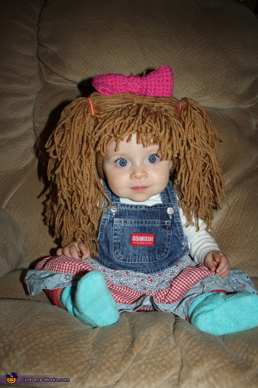 Cute DIY Cabbage Patch Doll Costume