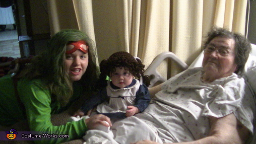 Our cabbage patch doll with Nanny & cousin McKaylan, Cabbage Patch Doll Costume