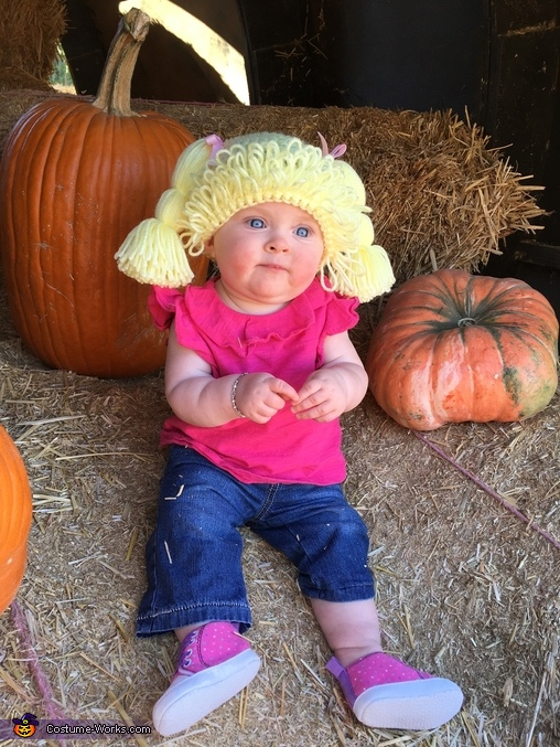 Cabbage Patch Doll Baby Homemade Costume