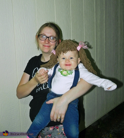 Cabbage Patch Doll Baby Girl Homemade Costume