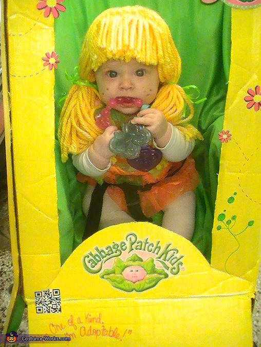 cute as a button, Cabbage Patch Doll in the Box Costume