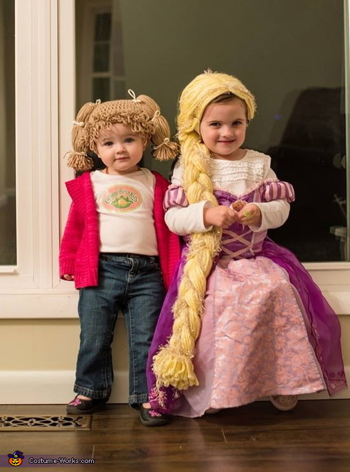 cabbage patch kid with her sister rapunzel cabbage patch kid costume
