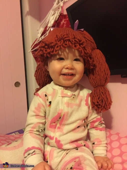 Hand Knit Cabbage Patch Kid wig, Cabbage Patch Kid Costume