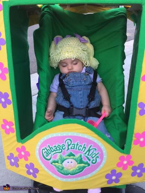 Fell asleep about 30 mins into trick or treating., Cabbage Patch Kids Doll Costume