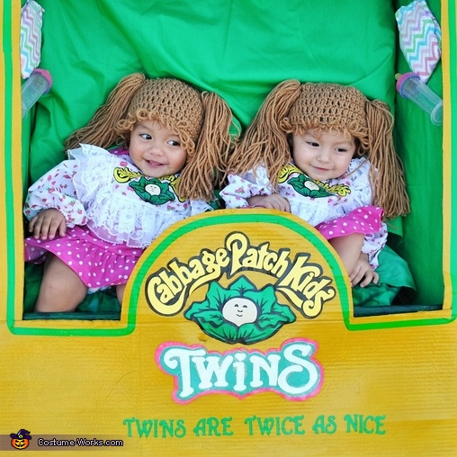 This is a close up., Cabbage Patch Kids Twins Costume