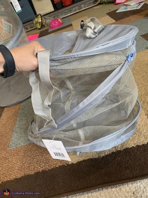 zip-tyed laundry hamper, California Rolls Costume