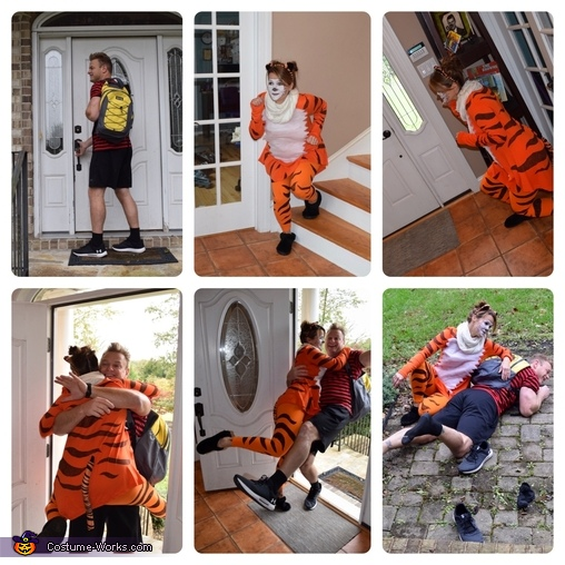 Calvin & Hobbes greeting sequence, Calvin & Hobbes Costume