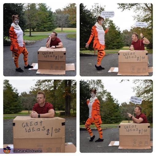 Calvin & Hobbes stand, Calvin & Hobbes Costume