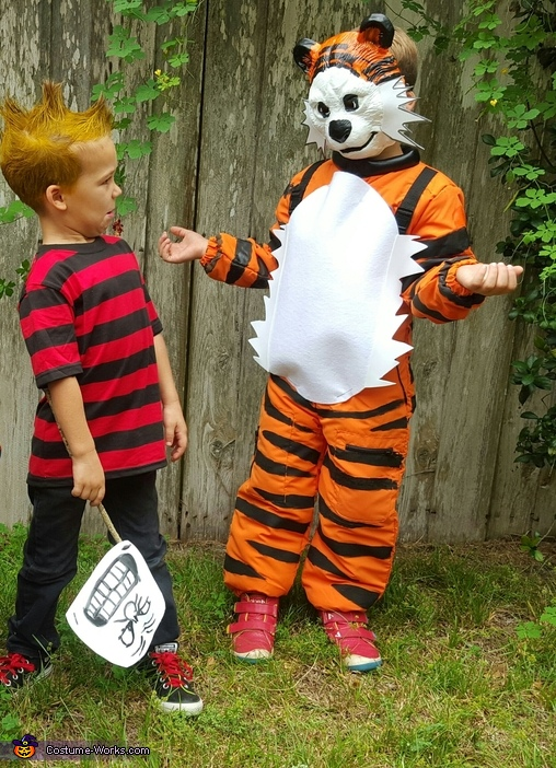 'I didn't do it!', says Hobbes., Calvin and Hobbes Costumes