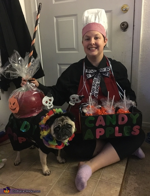 Candy Apple and Vendor Costume