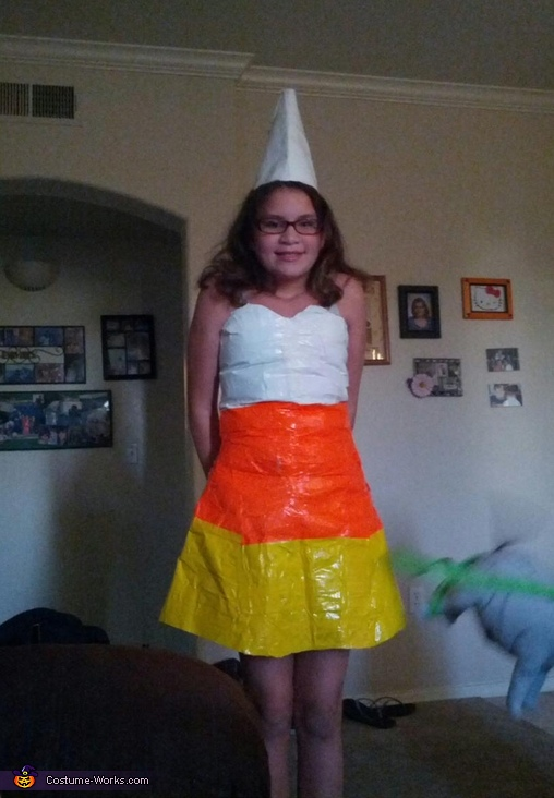 Candy Corn Girl - Homemade costumes for girls
