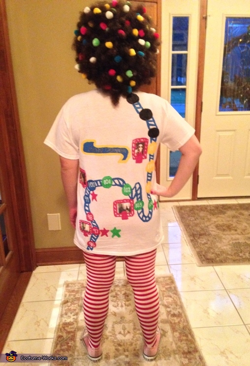 The back, DIY Candy Crush Costume