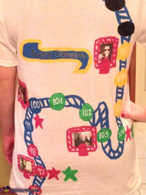 Close up of the back, DIY Candy Crush Costume