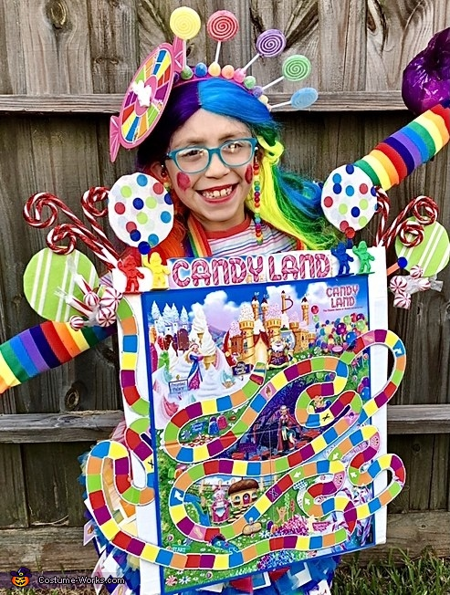 Close-up of the main board, Candy Land Costume