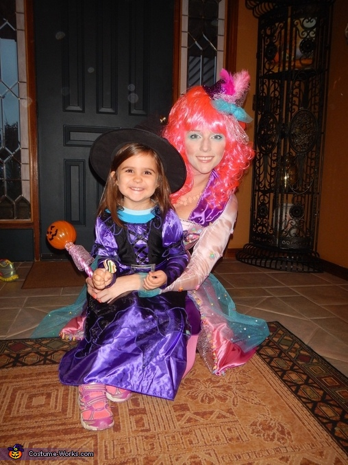 My niece and I , Candy Queen Costume