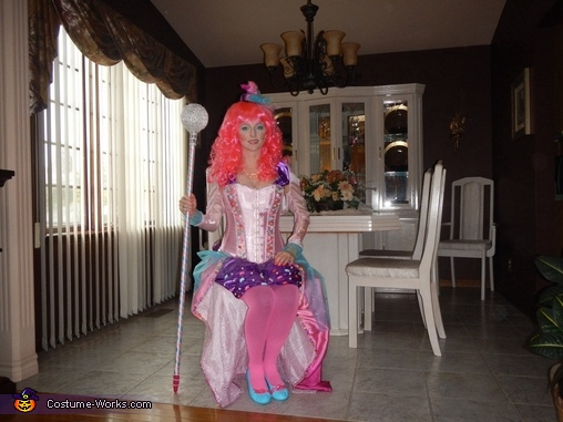 Painted the shoes to match the costume. , Candy Queen Costume