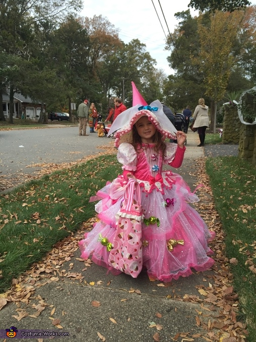 Mid Trick or treating, Candy Witch Costume