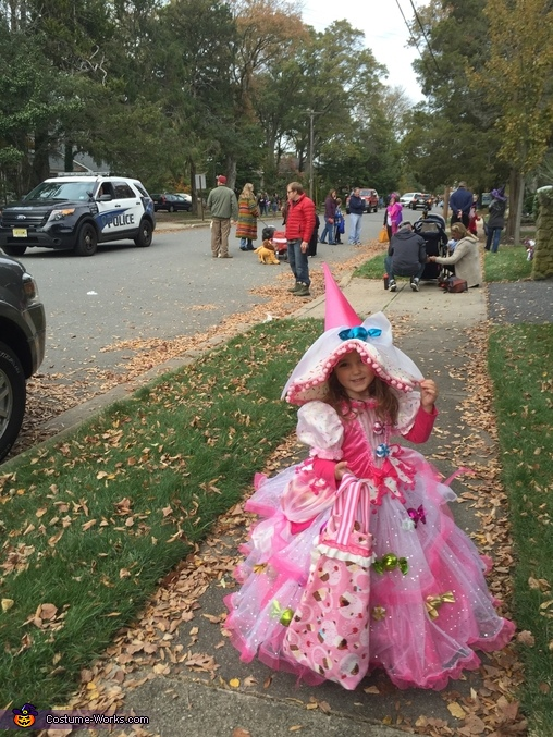 She had a blast!!! Trick or treating big bag was also hand made!, Candy Witch Costume