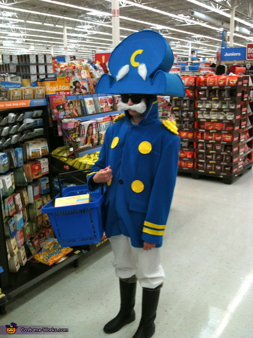 Waiting to checkout, Cap'n Crunch Costume