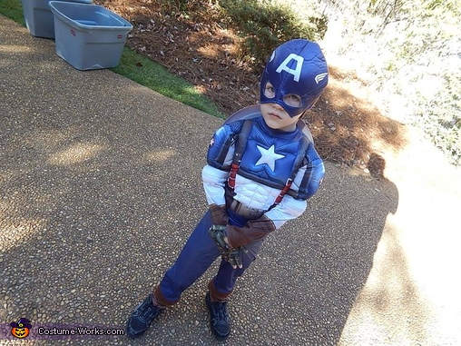 DIY Captain America Boy's Costume