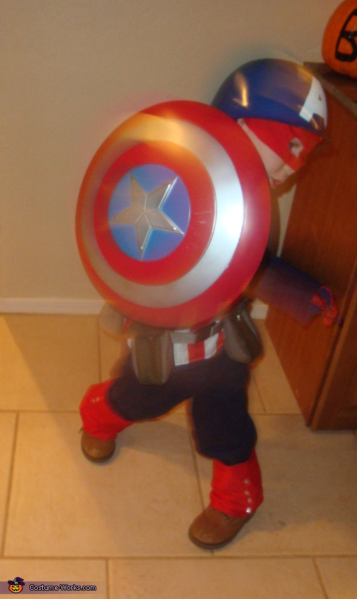 Homemade Captain America Costume