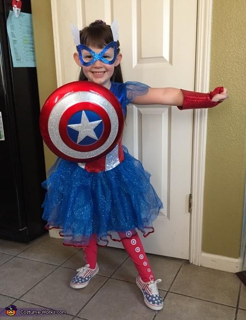 Captain American Girl Costume
