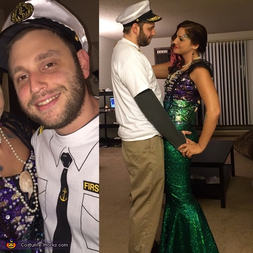 Captain and his Mermaid Homemade Costume