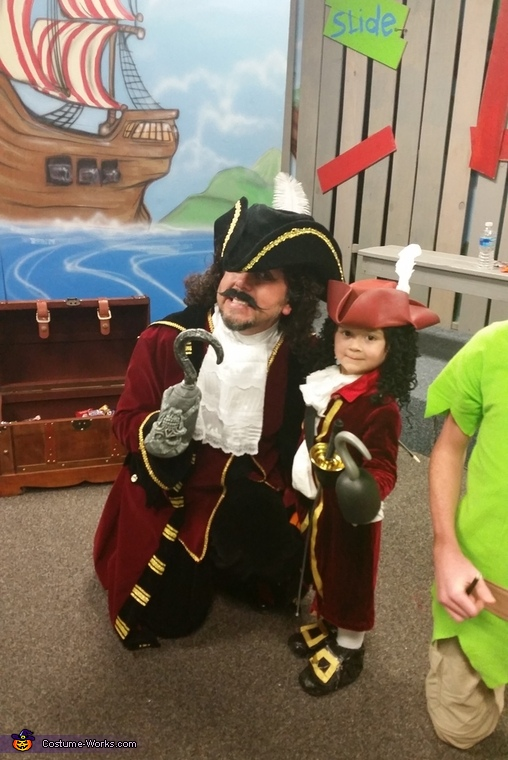 He met a grown up version of himself, Captain Hook Costume