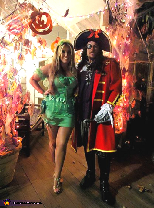 Captain Hook & Tinkerbell Couple Costume