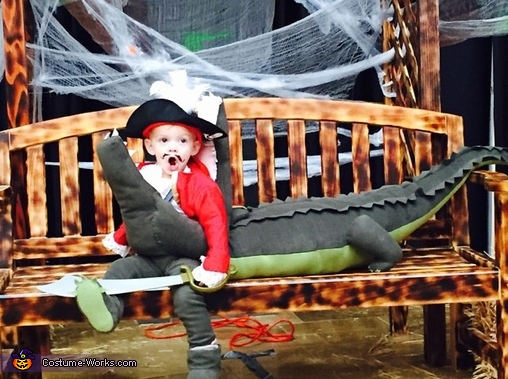 Even captain hook doesn't want to be eaten!, Captain Hook getting Eaten by Tick Tock Croc Costume