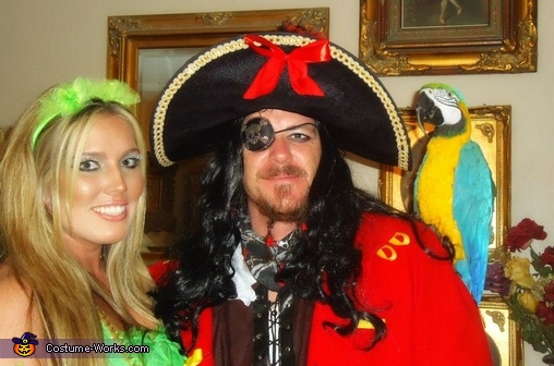 Captain Hook and TinkerBell, Captain Hook & Tinkerbell Couple Costume