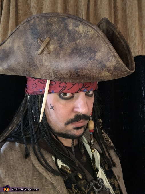 Captain Jack Sparrow Close Up, Captain Jack Sparrow Costume