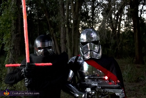 Captain Phasma and Kylo Ren Homemade Costume