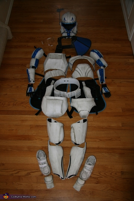 All the pieces, Captain Rex Costume