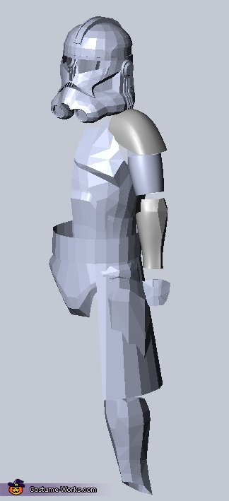 3D CAD Model, Captain Rex Costume