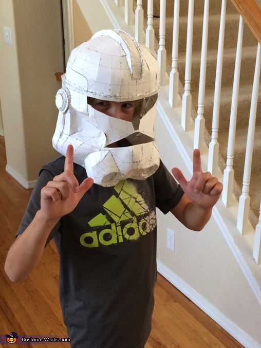 Test Fit Paper Helmet, Captain Rex Costume
