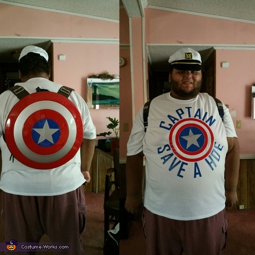 Captain Save A Hoe Homemade Costume