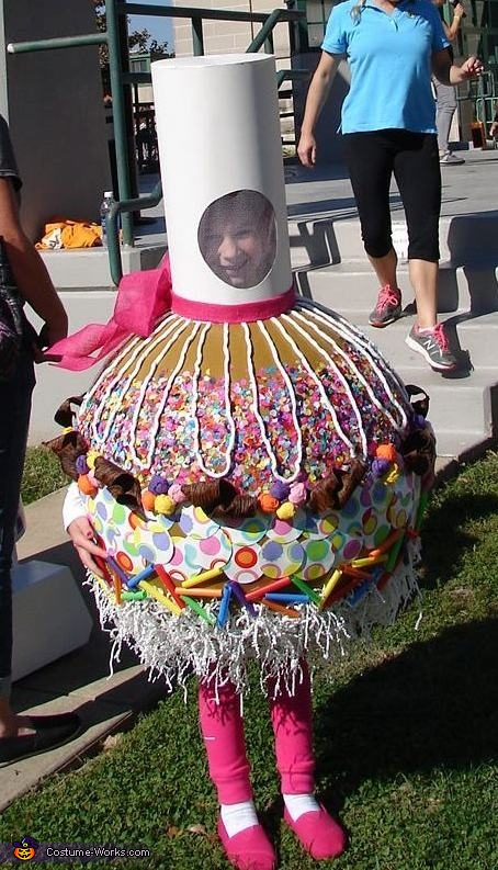 Completed costume, Caramel Candy Apple Costume