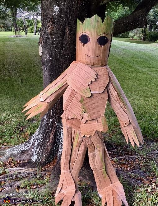Cardboard Groot Costume