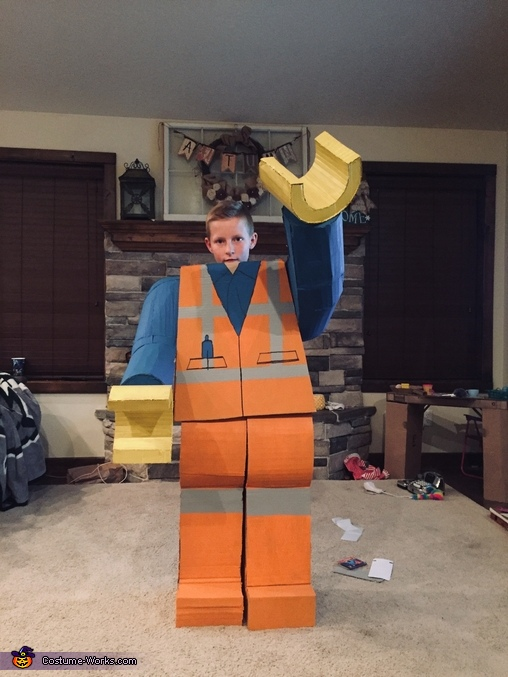 Cardboard LEGO Man Homemade Costume
