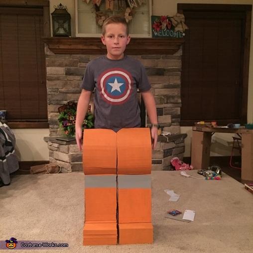 Cardboard LEGO Man Homemade Costume