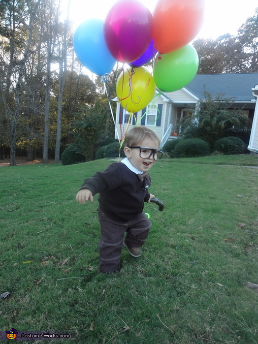 Jasper as Carl from Up loving the cane., Carl from Up Costume
